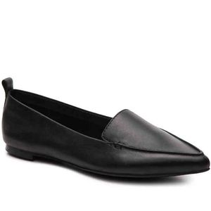 Black Leather Aldo Womens Pointed Galinsky Flats
